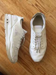 *REDUCED* White leather Le Coq Sportif sneakers 7.5-8