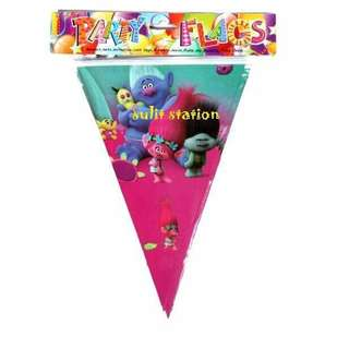 TROLLS BIRTHDAY PARTY FLAG BANNERS BANDERITAS