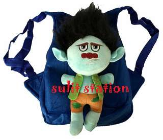 TROLLS BRANCH 3D PLUSH BACKPACK KIDS BAG