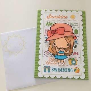 Handmade card for Sunshine Lovers
