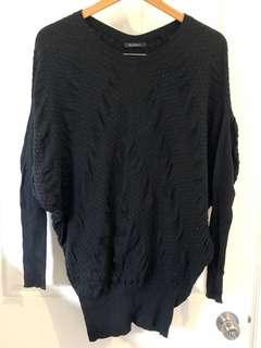 Saxony Black Sweater