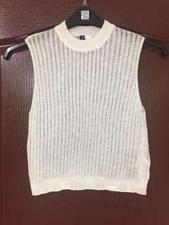 H&M Knitted Mock Neck Top