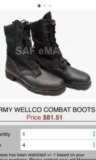 SAF boots Army Wellco Combat Boots