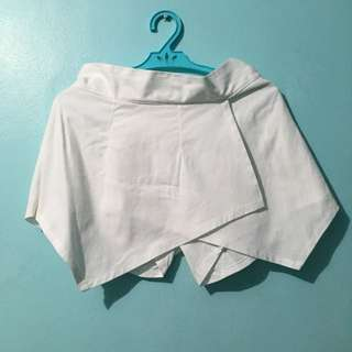 White Origami Skorts