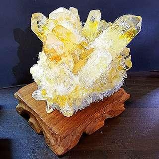 AAA GRADE YELLOW PHANTOM WITH CITRINE 顶级黄幽灵黄水晶