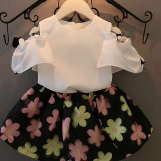 Kid ciffon top flora skirt