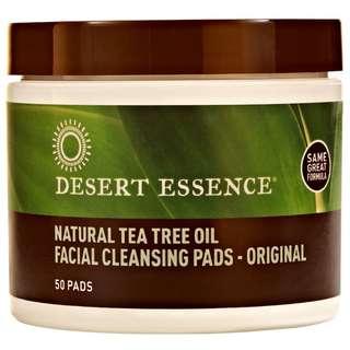 Desert Essence Natural Tea Tree Oil Facial Cleansing Pads