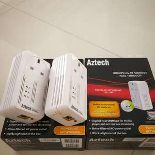 Aztech HL115EP 500Mbps Homeplugs