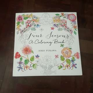 Four Seasons Adult Coloring Book