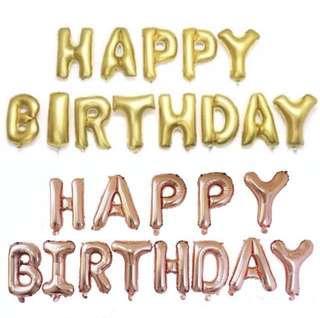 (INSTOCK)Happy Birthday Foil Balloons