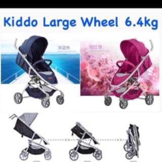New Kiddo Picnic 6.4kg Light Large Wheels Stroller