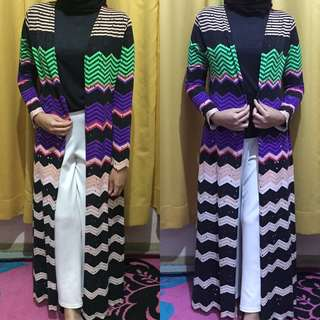 LONG CARDIGAN ZIGZAG