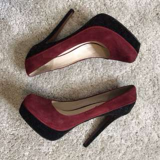 Boutique 9 red suede heels