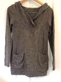 Brown Tri-Blend Hood Sweater