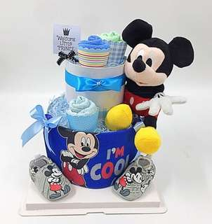 2-tier Diapers Cake - Ready stock