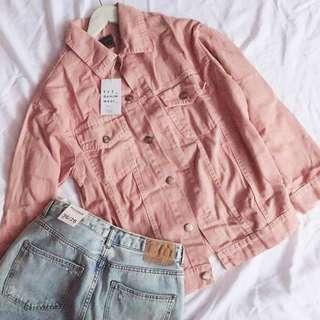 Oversize Jacket Pink Zara