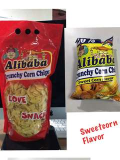 Pasalubong sized ALIBABA CRUNCHY CORN CHIPS SWEET CORN FLAVOR