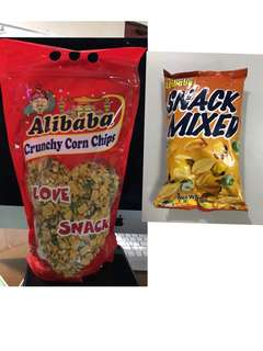 Pasalubong 1kg ALIBABA SNACK MIXED cornicks green peas