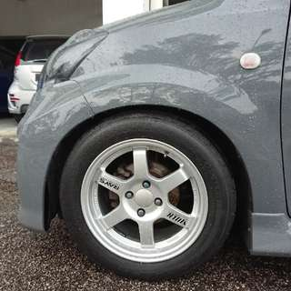 "swap rim te37 silver 15"" made in thailand"