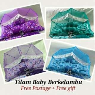 FREE SHIPPING Tilam Bayi + Kelambu