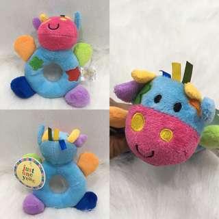 Carter's Donut Rattle-Rainbow Cow