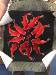 Embroidered Fish poster