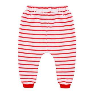 Cotton Long Pants for Toddler (Red Stripes)