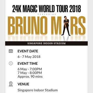 Bruno Mars - May 7 Concert at Stadium
