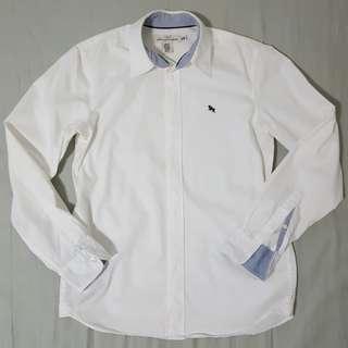 H&M White Long Sleeved Shirt
