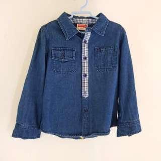 ⚘Fisher-Price⚘ Denim Long Sleeve Shirt [Size: 4 Yrs]