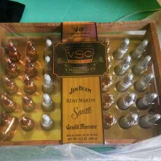 Liquor filled chocolates