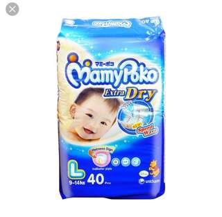Mamypoko Diapers Tape Size L