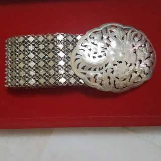 SOLD - Vintage Peranakan 925 Silver Belt