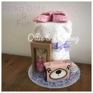Baby Shower Diaper Cake Gift Hamper