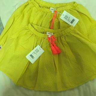 (SOLD) Girls Skirt BN, Seed Age 7 and 9 (retail $49.95)