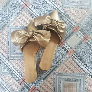 [Repriced] Oversized ribbon mules