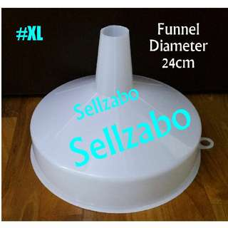 #XL Size 3.4cm Funnel White Plastic Sellzabo Big Tool Refill Transfer
