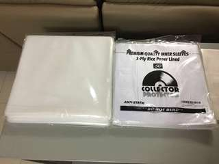 Vinyl Record Sleeve, Inner & Outer (RetroRegal Records) Polypropylene, Rice Paper Record Sleeve