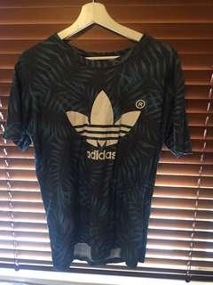 Adidas  originals blue fern t shirt