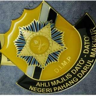 ORGINAL D.I.M.P DATO JOHOR STANDARD Datuk VIP Emblem