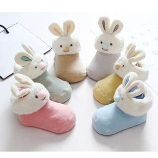 Easter Special! Bunny Infant Socks - Non-Slip!Very Cute!