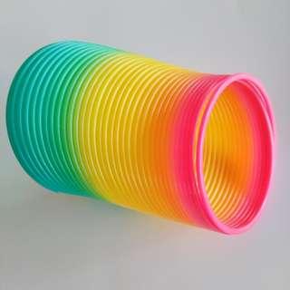 Rainbow spring slinky