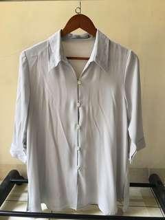 atasan baju grey