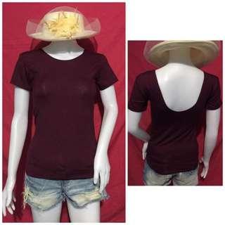 Plain Scoopback Shirt