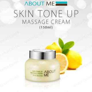 ABOUT ME Skin TONE UP massage cream!