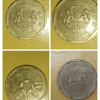 Old Coins.Singapore 1987