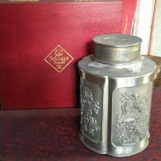 60yrs Old pewter tea canister