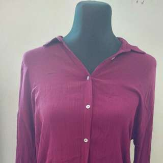 Stradivarius Maroon Top