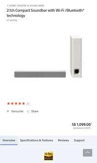Sony Hi-Fi HT MT500 - white BNIB