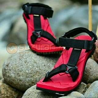 Sandal Gunung Suzuran Slop Mr1 Red w Black